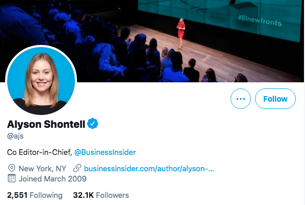 Top Business Journalists Alyson Shontell.