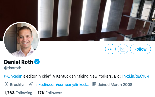 Top Business Journalists Dan Roth.
